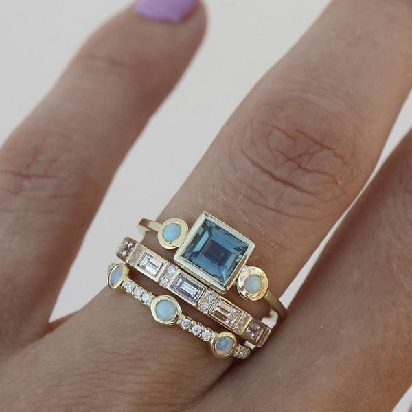 DIAMOND, emeraldring, whiteopalring, rhinestonering