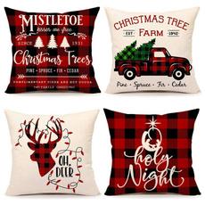 snowman, christmaspillow, Throw Pillows, plaid