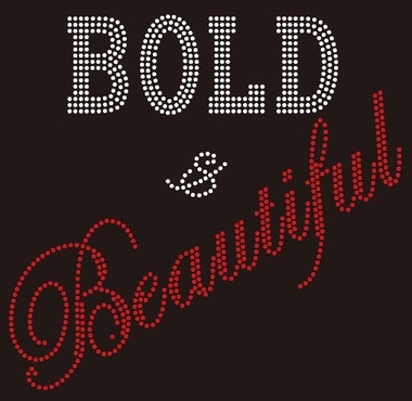 Beautiful, Bold, transfer, text
