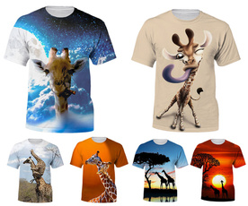 3dgiraffetshirt, Summer, Fashion, 3dmentshirt