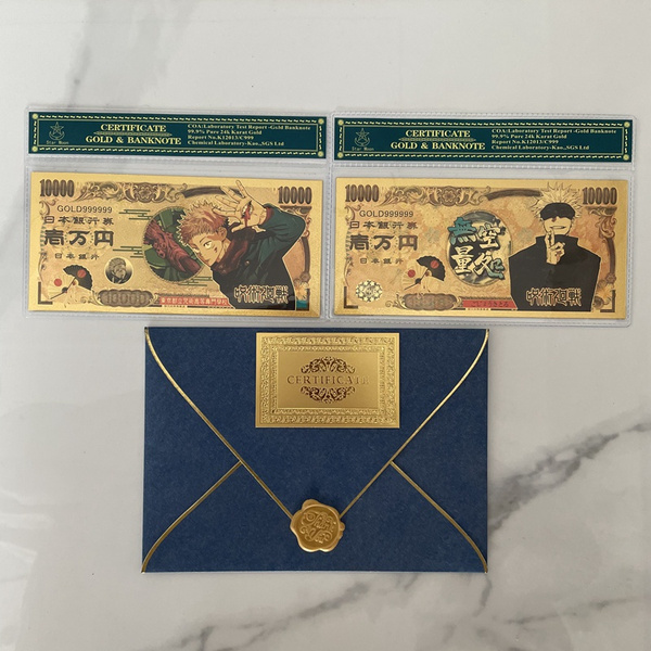 Collectibles, banknote, gold, gojo