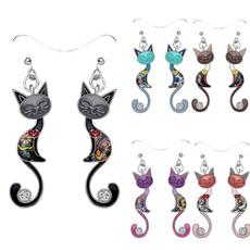 Women, enamelearring, Dangle Earring, Ladies Fashion