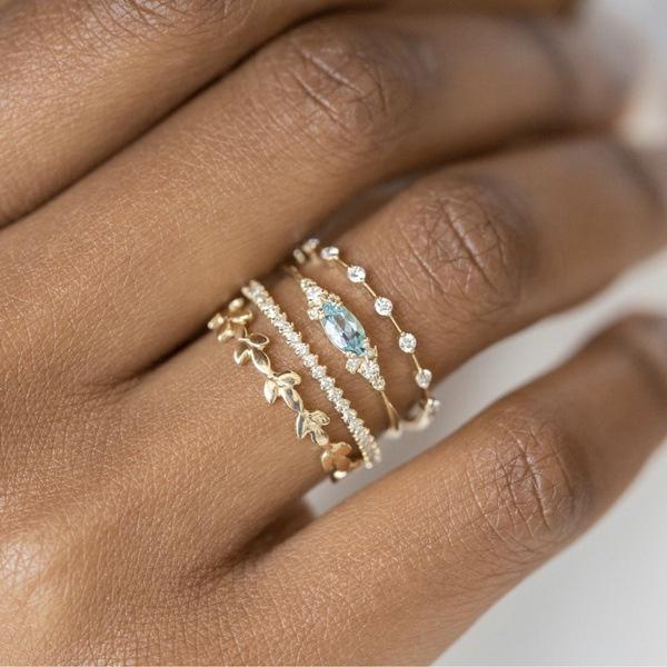 exquisite jewelry, Fashion, Engagement Wedding Ring Set, Jewelry