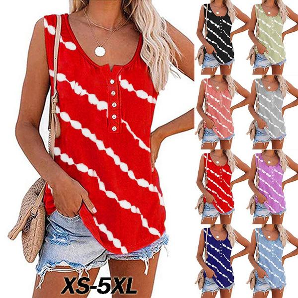 diagonalstripprinted, Fashion, Tank, Necks