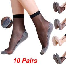 transparentsock, Cotton Socks, Elastic, silksock