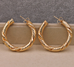 bighoopearring, Fashion, Jewelry, gold