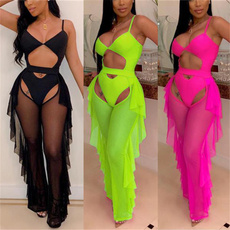 Summer, Fashion, sexy swimsuit, candy color