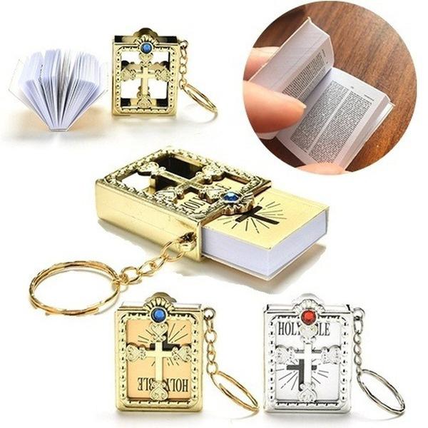 Beautiful, bible, Key Chain, Cross
