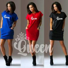 slim dress, short sleeve dress, short dress, letter print