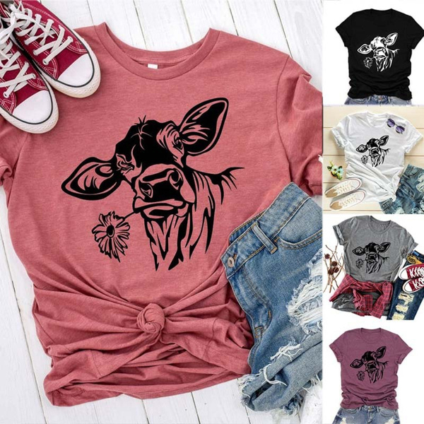 Tops & Tees, Plus Size, Shirt, cow