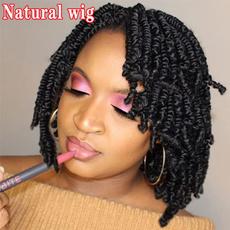wig, Head, blackshortwig, shoulderlengthwig