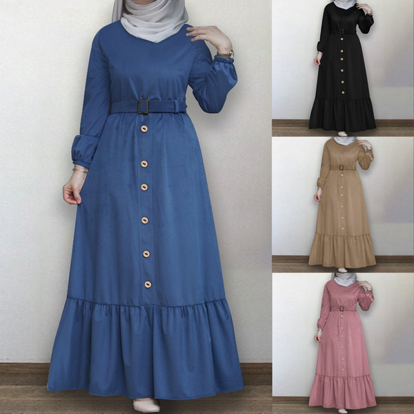 gowns, plaindres, pleated dress, muslimdres