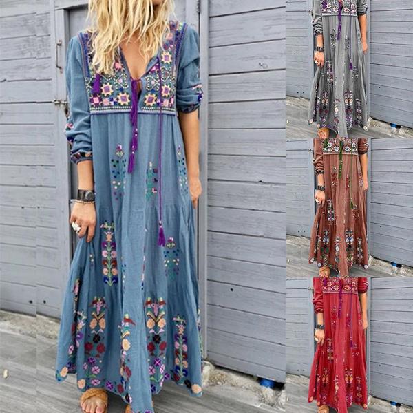 long skirt, womens dresses, Dresses, blue dress