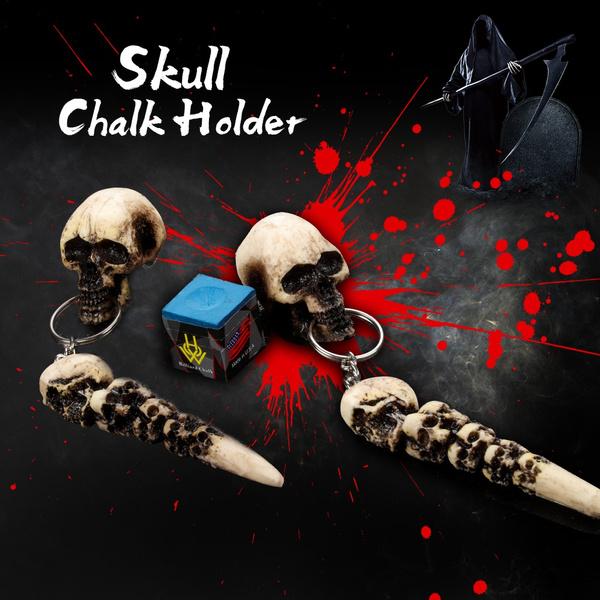 chalkholder, chalkaccessorie, skull, billiardaccessorie