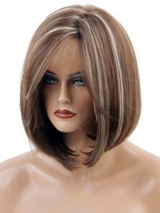 wig, brown, Fashion, bobhair
