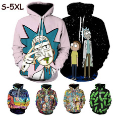 3D hoodies, Women Clothing, rickandmortyhoodie, Hoodies