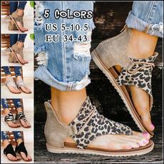 beach shoes, Plus Size, Summer, flatsandal