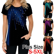 Summer, Plus Size, short sleeves, Women's Fashion