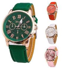quartz, leather strap, leather, quartz watch