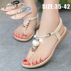bohemia, Summer, Tassels, Sandals