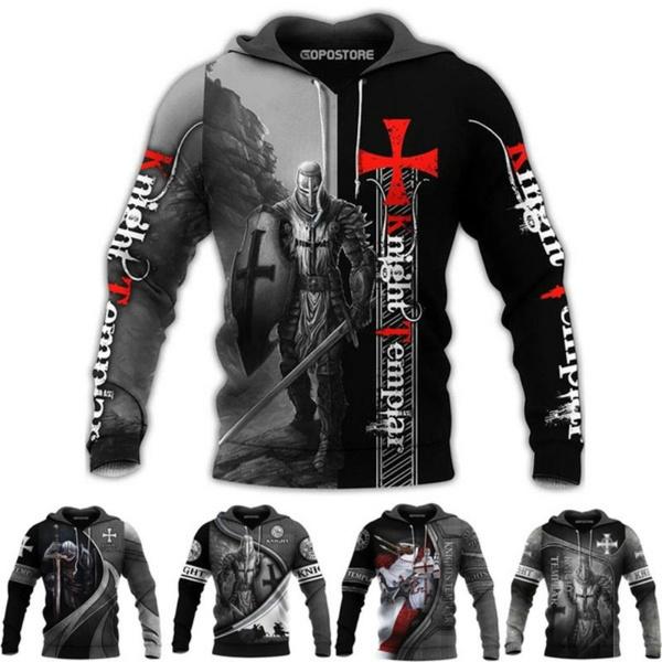 3D hoodies, 3dprintsweatshirt, Shirt, knight