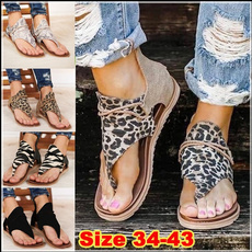 Summer, Flip Flops, Sandals, animal print