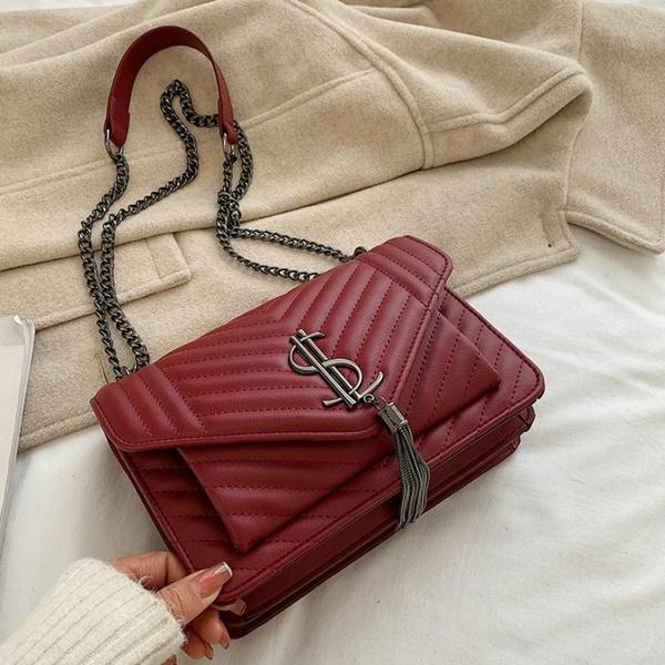 Shoulder Bags, Tassels, sacfemme, leather