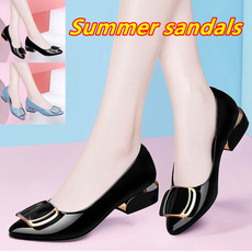 casual shoes, Summer, Sandals, leather shoes