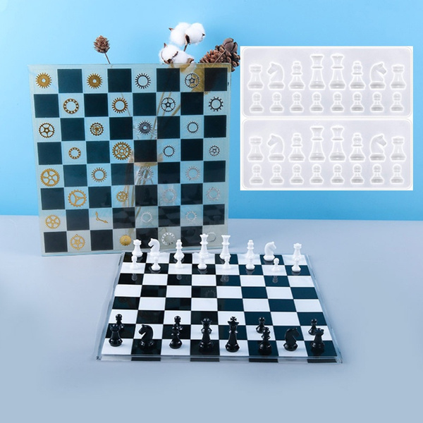 chesspiece, Chess, Crystal, siliconemould