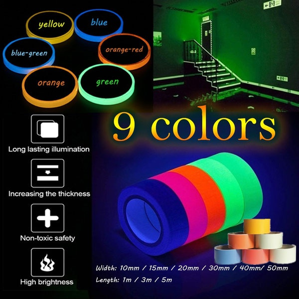 tapeglowinthedark, luminoustape, homelife, fluorescentsafetytape