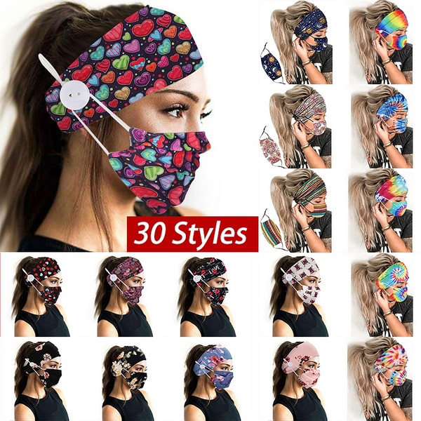 headbandmaskbandana, Elastic, printedmaskheadband, tiedyedheadband