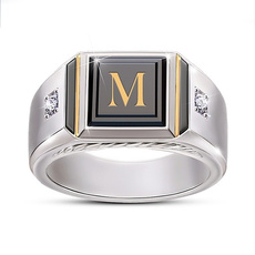 Sterling, party, DIAMOND, wedding ring