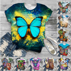 butterfly, Owl, Graphic, Shirt