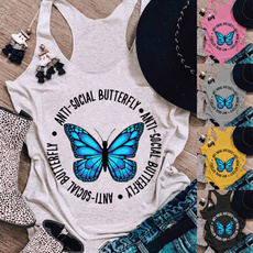 butterfly, Tanktops for women, Plus Size, Tank