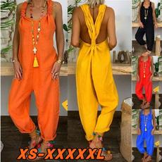 Summer, dressesforwomen, cottonlinen, pants
