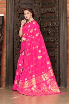 Beautiful, pink, banarasisilk, banarasisilksaree