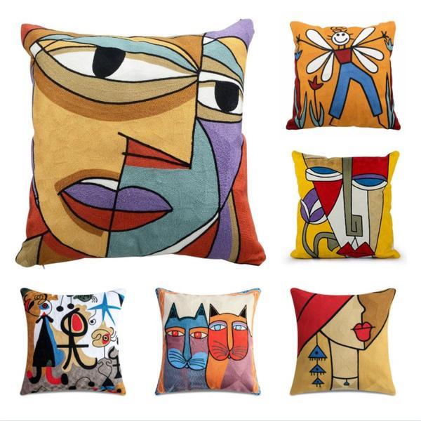 art, printpillowcase, Throw Pillow case, abstractpatternpillowcase