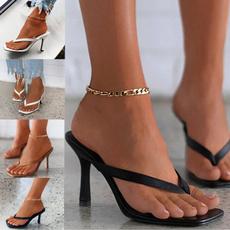 Summer, Plus Size, heeledsandal, Peep Toe