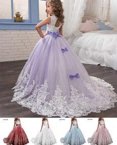 Flowers, Lace, Princess, Dress