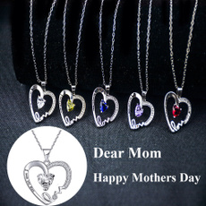 Heart, gemstonenecklace, heartshapenecklace, Love