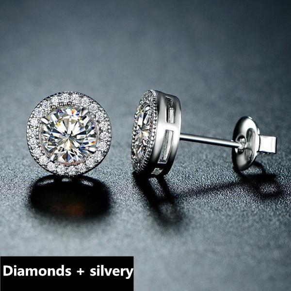 Cubic Zirconia, Sterling, DIAMOND, Jewelry