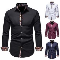 shirts for men, Fashion, Floral print, long sleeved shirt