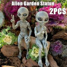 alien, aliengardenstatue, art, Garden