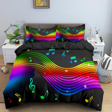 rainbow, quiltcover, King, Bedding