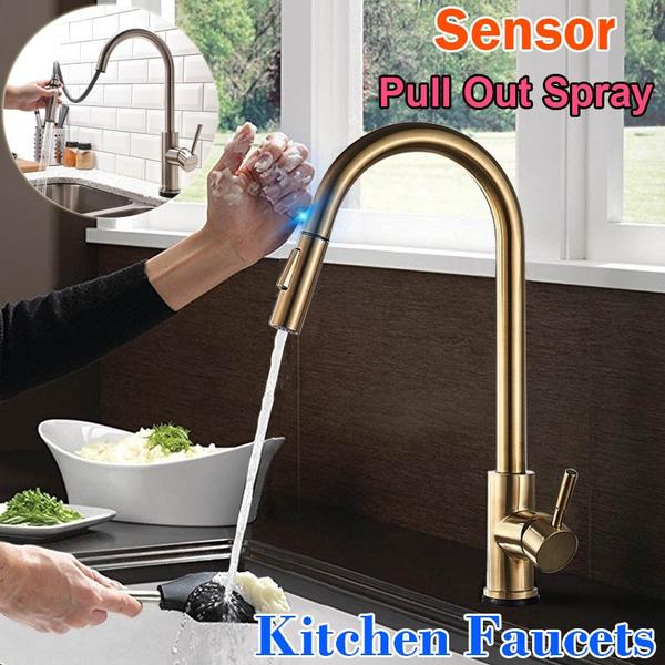 Steel, kitchenfauect, Faucet Tap, brushednickelkitchenfaucet