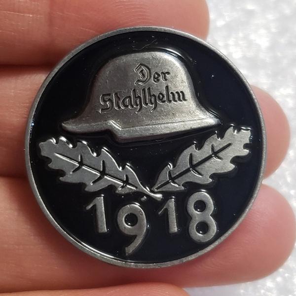 Antique, germany medal, Pins, skull