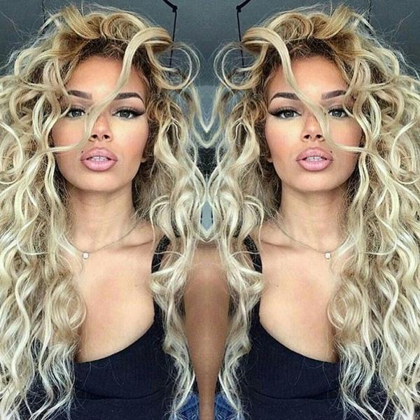 wig, Fashion, Long wig, lights