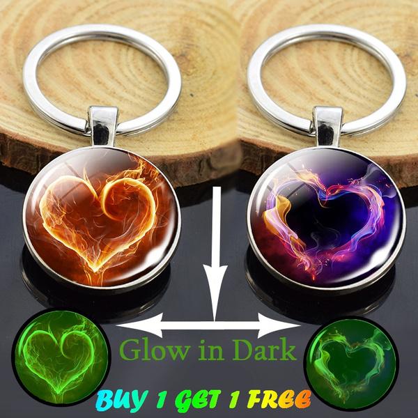 handmadekeychain, Heart, buy 1 get 1 free, Flowers