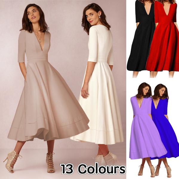 Summer, Elegant, Party Dresses, Vintage