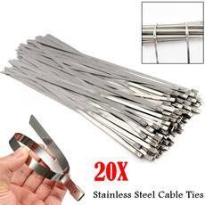 Steel, lockingcabletie, Zip, Stainless Steel